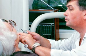 Dentist with Elderly Person