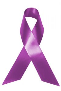 purple ribbon for oral cancer